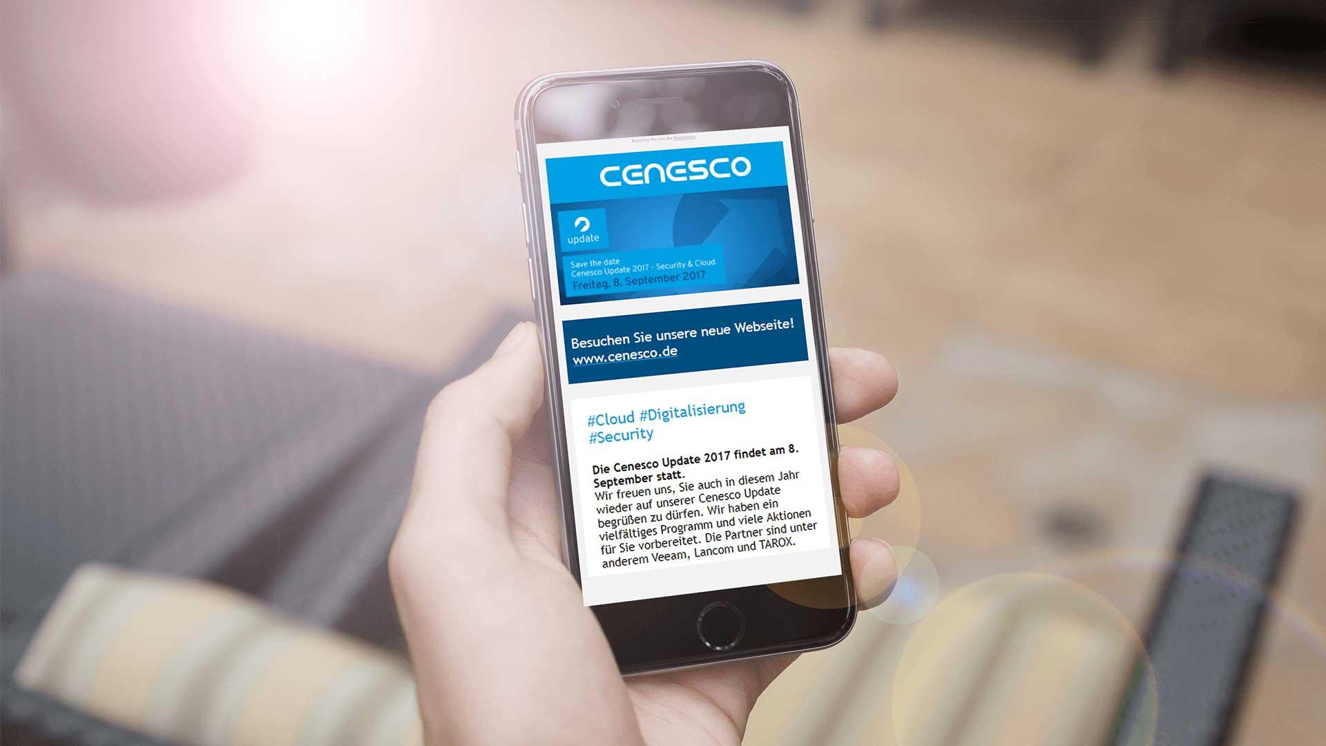 Newsletter-Abo für Desktop und Smartühone